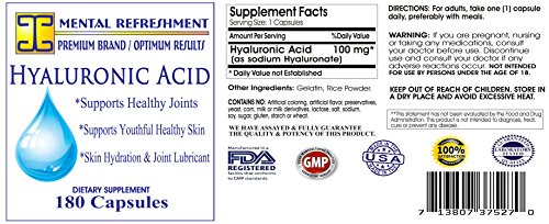 Mental Refreshment: Hyaluronic Acid – 100mg 180 capsules 86