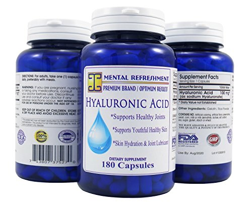Mental Refreshment: Hyaluronic Acid – 100mg 180 capsules 90