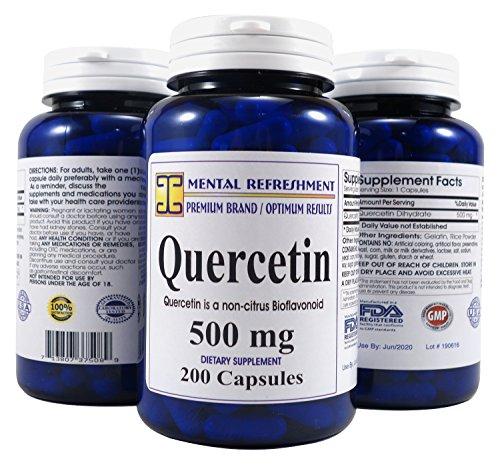 Mental Refreshment: Quercetin 500mg 200 Capsules (1 Bottle) 114