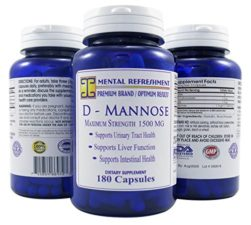 Mental Refreshment: D-Mannose – 1500mg, 180 Capsules #1 Best for Urinary Tract Health (1 Bottle) 102