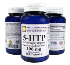 Mental Refreshment: 5-HTP: 100 mg 180 capsules (1 Bottle) 111